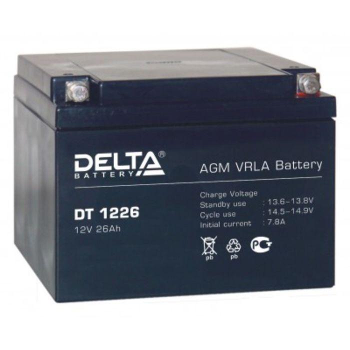 Аккумуляторная батарея Delta DT1226, 12 В, 26 А/ч