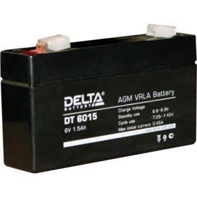 Аккумуляторная батарея Delta DT6015, 6 В, 1.5 А/ч Ош