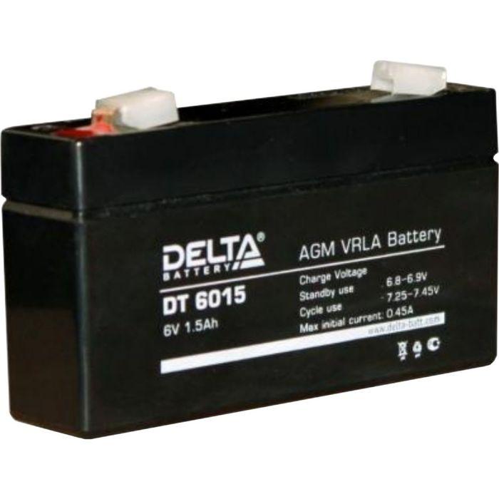 Аккумуляторная батарея Delta DT6015, 6 В, 1.5 А/ч