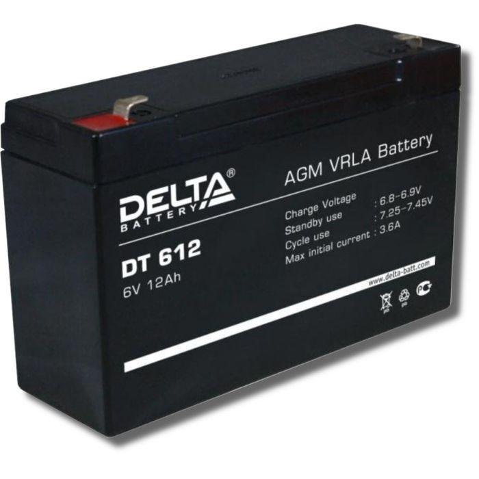 Аккумуляторная батарея Delta DT612, 6 В, 12 А/ч