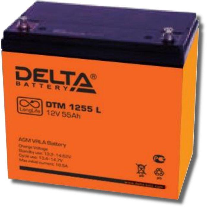 Аккумуляторная батарея Delta DTM1255 L, 12 В, 55 А/ч