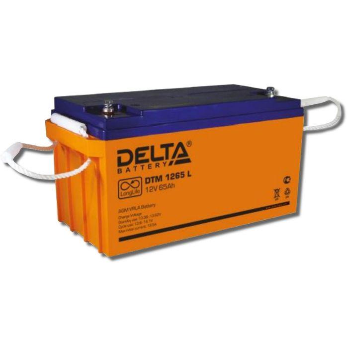 Аккумуляторная батарея Delta DTM1265 L, 12 В, 65 А/ч