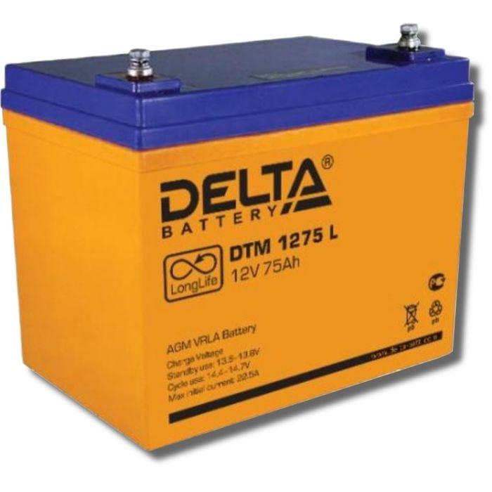 Аккумуляторная батарея Delta DTM1275 L, 12 В, 75 А/ч