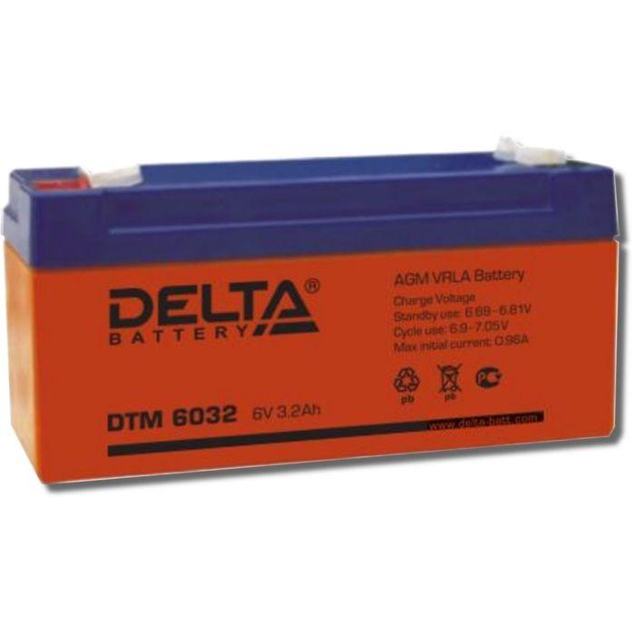 Аккумуляторная батарея Delta DTM6032, 6 В, 3.2 А/ч