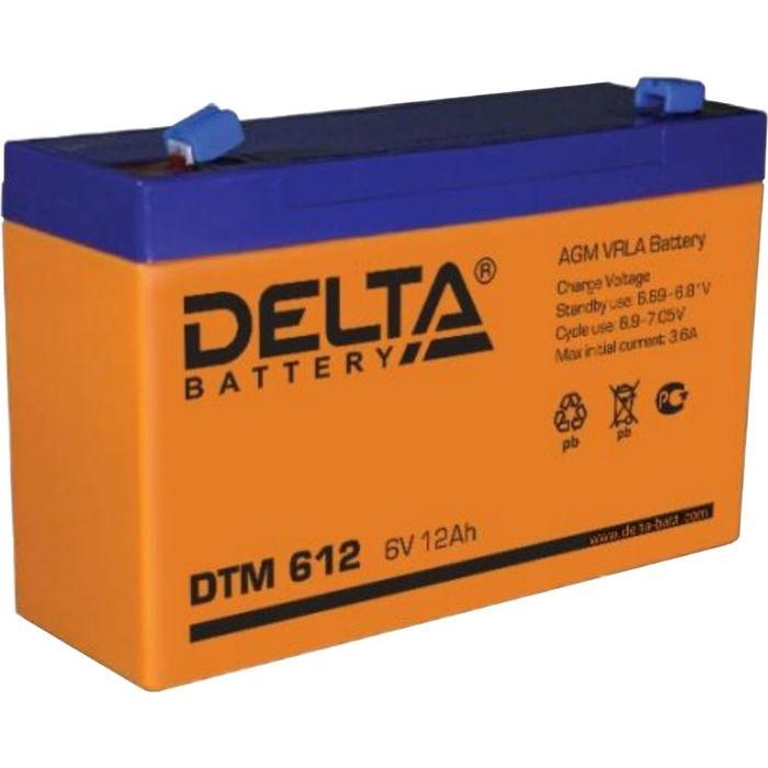 Аккумуляторная батарея Delta DTM612, 6 В, 12 А/ч
