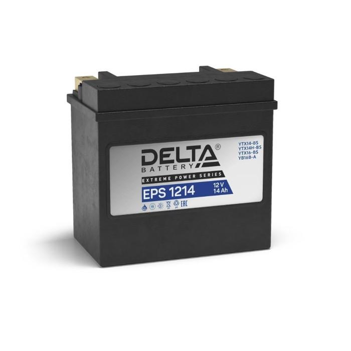 Аккумуляторная батарея Delta EPS 1214(YTX14-BS, YTX14H-BS)12V, 14 Ач прямая(+ -)