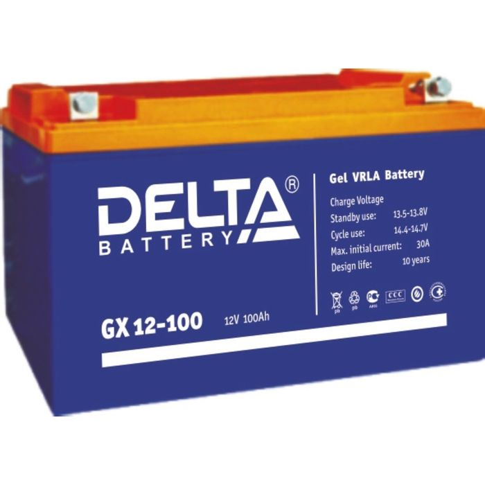 Аккумуляторная батарея Delta GX 12-100, 12 В, 100 А/ч