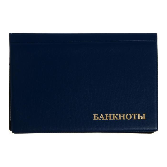 Альбом для Бон 125х185мм, на 24 банкноты, обложка ПВХ, микс