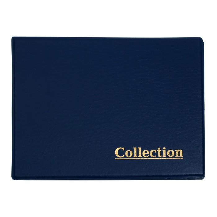 Альбом для монет горизонтальный на кольцах, Calligrata, 230х170 мм, 10 листов, 240 монет, обложка ПВХ, МИКС