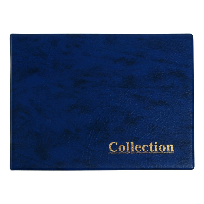 Альбом для монет горизонтальный, на кольцах, Calligrata, 230 х 170 мм, 10 листов, 240 монет, ячейка 34 х 39 мм, обложка искусственная кожа, микс