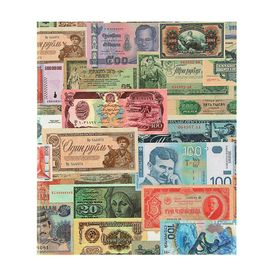 Альбом для бон на кольцах, 225 х 265 мм, «Для банкнот», обложка ламинированный картон, формат Оптима Ош