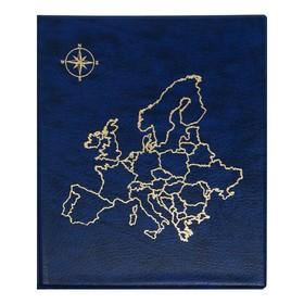 Альбом для монет, на кольцах, Оптима, 230 х 265 мм, входит до 20 листов, обложка искусственная кожа, «Карта», микс Ош