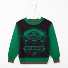 """Джемпер для мальчика """"Звёздные войны"""", рост 116 см (64), цвет зелёный/чёрныйZB 26041-DG"""