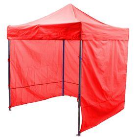 Палатка торговая 2*2 м, каркас складной чёрный, с молнией, цвет красный Ош