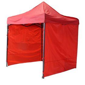 Палатка торговая 2,5*2,5 м, каркас складной чёрный, с молнией, цвет красный Ош