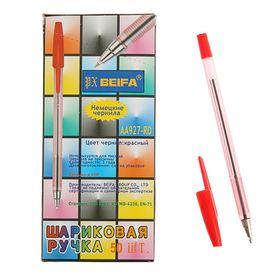 Ручка шариковая Beifa АА 927RD, металлический наконечник, стержень красный, узел 0.7мм