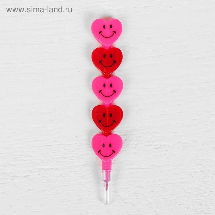 Карандаш восковой «Сердечки» 2 цвета