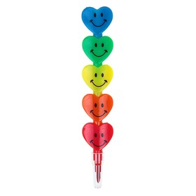 Карандаш восковой «Сердечки» 5 цветов