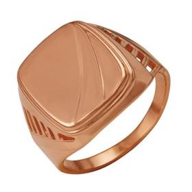 Кольцо позолота 'Перстень' мужской, 19 размер Ош