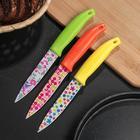 Нож кухонный «Ланфорд», лезвие 11 см, с антиналипающим покрытием, цвет МИКС - Фото 2