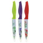 Нож кухонный с антиналипающим покрытием «Норберт», лезвие 12 см, цвет МИКС - Фото 3