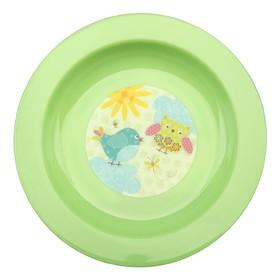 Тарелочка детская для вторых блюд, диаметр 17,5 см, цвета МИКС