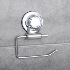 Держатель для туалетной бумаги на вакуумных присосках Accoona A11405-3, цвет хром