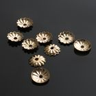 Шапочки для бусин (набор 50шт), СМ-079, 2х6,5 мм, цвет золото