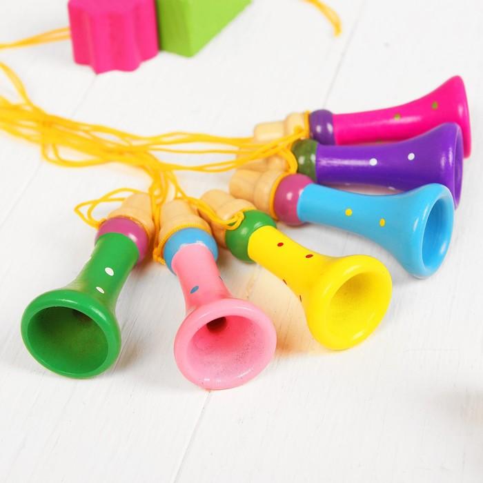 Музыкальная игрушка Дудочка на верёвочке, цвета микс