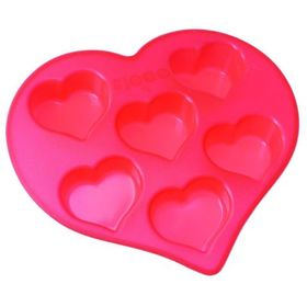 Форма для кексов «Сердечки», 6 ячеек, размер 26,5х25,5х4 см