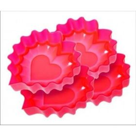 Набор «Валентинки» Silicone, размер 12х12,5х3 см, 4 предмета