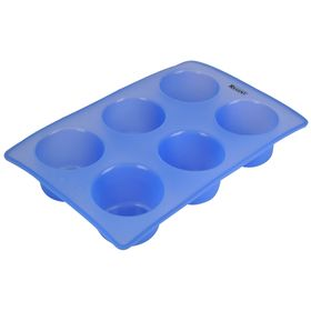Форма для кексов Silicone, 6 ячеек, размер 28,5х19х5 см