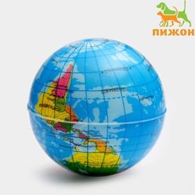 Мячик зефирный 'Карта мира', 6,3 см, микс цветов Ош