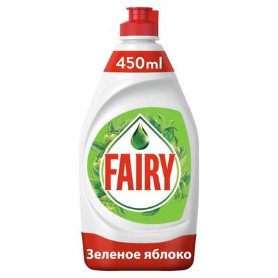 """Средство для мытья посуды FAIRY """"Зеленое яблоко"""", 450 мл - Фото 1"""