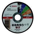 Круг отрезной по камню BOSCH 2608602384, Rapido Multi Construction, прямой, 115х1,0 мм