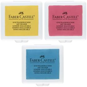 Ластик-клячка Faber-Castell 1273 (микс 3 цвета) в индивидуальной упаковке Ош