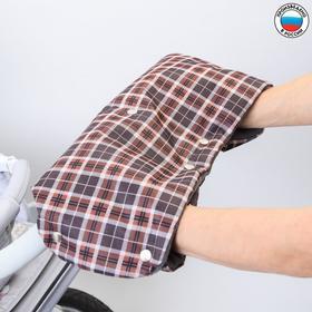 Муфта для рук на санки или коляску флисовая, на кнопках, цвета МИКС Ош