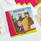 Бумажные салфетки «Маша и Медведь», 33 см, набор 12 шт.