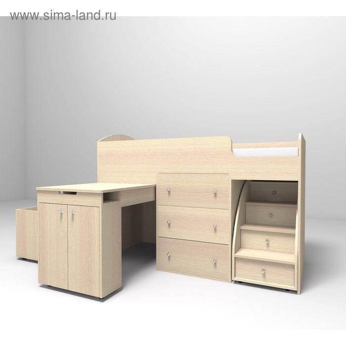 Кровать-чердак Ярофф Малыш 700x1600 дуб молочный дуб молочный