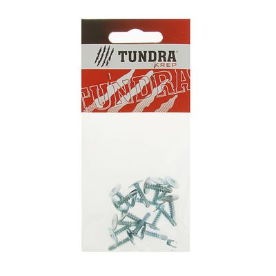 Саморезы с прессшайбой TUNDRA krep, 4.2х16 мм, сверло, 16 шт.