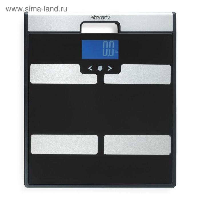 Весы для ванной комнаты Brabantia, с мониторингом веса, электронные, цвет чёрный