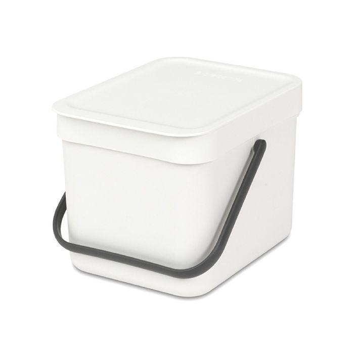Ведро для мусора Brabantia Sort & Go, 6 л, встраиваемое, цвет белый