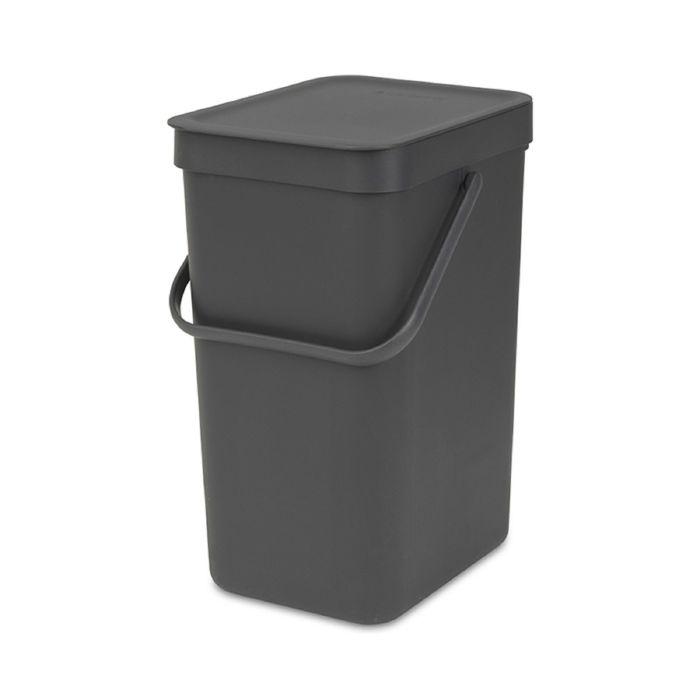 Ведро для мусора Brabantia Sort & Go, 12 л, встраиваемое, цвет чёрный
