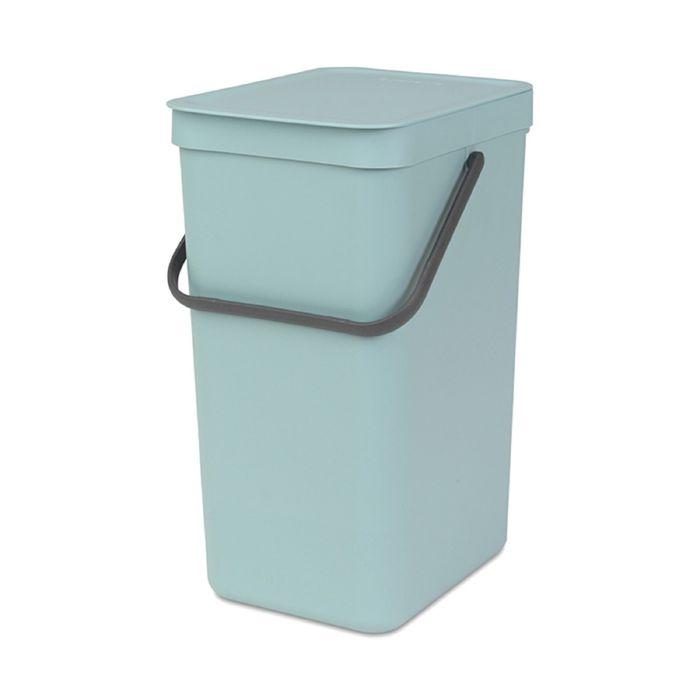 Ведро для мусора Brabantia Sort & Go, 16 л, встраиваемое, цвет мятный