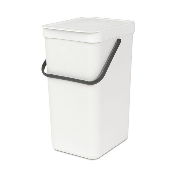 Ведро для мусора Brabantia Sort & Go, 16 л, встраиваемое, цвет белый
