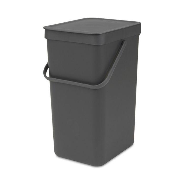 Ведро для мусора Brabantia Sort & Go, 16 л, встраиваемое, цвет чёрный
