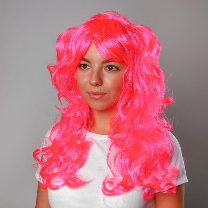 Карнавальный парик с двумя хвостиками, 120 г