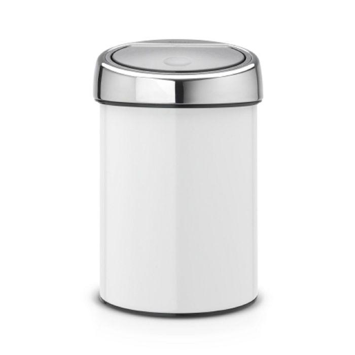 Ведро для мусора Brabantia Touch Bin, 3 л, цвет белый