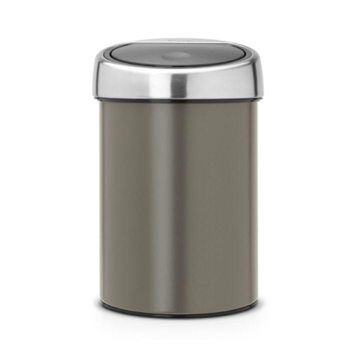 Ведро для мусора Brabantia Touch Bin, 3 л, цвет платиновый
