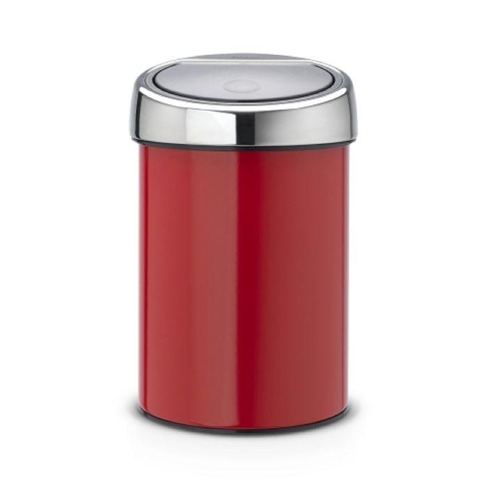 Ведро для мусора Brabantia Touch Bin, 3 л, цвет красный